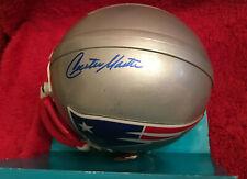 NE Patriots Curtis Martin Autographed Authentic Riddell Mini Helmet with COA