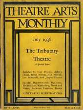 THEATRE ARTS MONTHLY MAGAZINE 1936 jul MARK TWAIN - HENRY IV PRT1 - SWEENY TODD