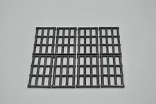 LEGO 8 x Gitterstab Pearl Dark Gray Bar 1x4x6 Grille with End Protrusions 92589