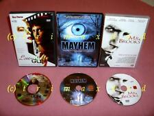 3 DVDs _ Mayhem & Mr. Brooks the Killer In You & Love is a Gun _ more films in shop