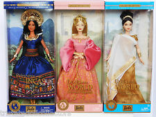 PRINCESS OF THE INCAS Lea_ANCIENT GREECE Goddess_ENGLAND Barbie DOTW Lot_NRFB