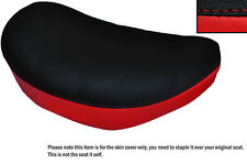 BLACK & B RED CUSTOM FITS SUZUKI LS 650 SAVAGE FRONT LEATHER SEAT COVER