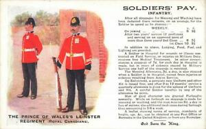 Early SOLDIER'S PAY Prince of Wales's Leinster Regiment Royal Canadians Postcard
