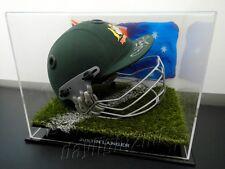 ✺Signed✺ JUSTIN LANGER Replica Cricket Helmet PROOF COA Australia 2018 Shirt