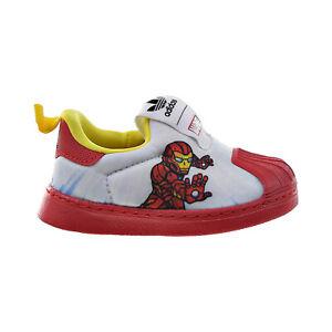 "Adidas Superstar 360 I ""Marvel Iron Man"" Slip-On Toddlers' Shoes White FX4883"