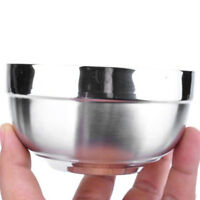Qu/_ KF/_ Stainless Steel Noodles Rice Soup Bowl with Handle Food Tableware Mystic