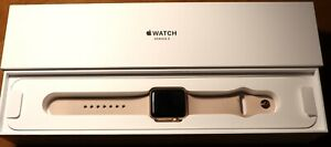 Apple Watch Series 38mm Rose Gold Case/Pink Sand Sports Band + Extras!
