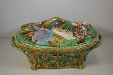 Antique Minton Majolica Game Pie Dish and Cover 668