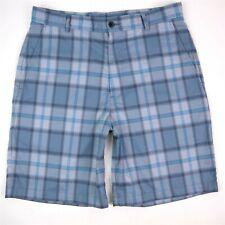 Slazenger Golf Shorts Size 32 Blue Poly Spandex Flat Front Performance Golf MINT