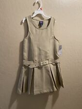 French Toast Girls Uniform Jumper Dress - Khaki - Faux Belt Size 6 New With Tags