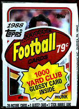 1988 Topps Football Cello Pack w/ ART MONK ON TOP ~HOF WR HALL OF FAME INDUCTEE