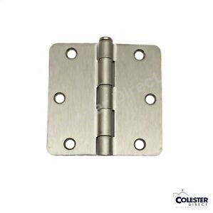 "Satin Nickel Interior Door Hinge 3.5"" with 1/4"" corner radius 3 1/2 inches"