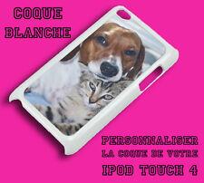 Coque blanche iPod Touch 4 4G personnalisable avec votre photo, logo et texte