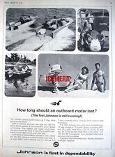 1964 'JOHNSON' Outboard Motors Range Advert - Vintage Photo Print AD
