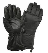 Insulated Gloves with Leather Palm Deluxe - Cold Weather / Rothco 4756 / BLACK