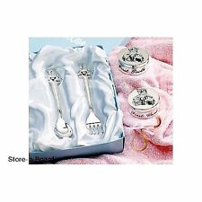 Baby Collection Keepsake 4 Pc. Silver Plated Teddy Bear Design Gift Set