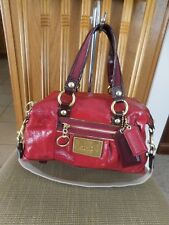 Coach Poppy 15868 Red Satchel Patent Leather, Hobo, Shoulder Bag