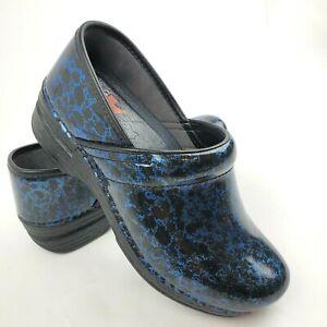 Dansko XP Professional Blue Leather Clogs Womens 37 US 6.5-7 Nursing Shoes MINT