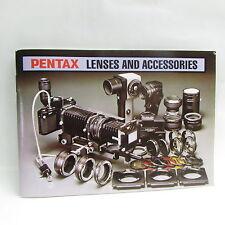 Vintage PENTAX Lentes Y Accesorios Sistema Accesorio List 1982 Folleto / Guía