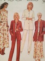 McCalls Sewing Pattern 2050 Ladies Misses Jacket Top Skirt Pants Size 10-14 UC