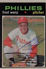 Fred Wenz Autographed 1971 Topps #92 Signed Card Philadelphia Phillies 17G