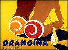 "Orangina 1953 Beach Girls ""Les Fesses"" Vintage Poster Print Orange Drink Decor"