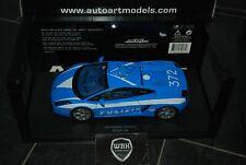 LAMBORGHINI GALLARDO Polizia blue Autoart 74576 SUPERB! 1/18 TOP!