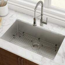 New listing Undermount Stainless Steel Kitchen Sink 32 in. Single Bowl 16-Gauge Easy Clean