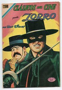 CLASICOS del CINE #220 Zorro, Novaro Mexican Comic 1970