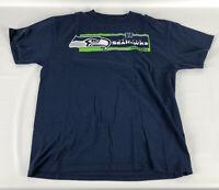 Seattle Seahawks T-Shirt - NFL Team Appaprel - Blue - Size Large L