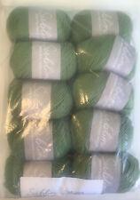 Brand New Sublime Extra Fine Merino Wool DK Sh 408 Green 50g x 10 Balls Free P&P