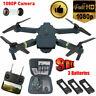 Drone x Pro WIFI FPV 1080P HD Camera 3 Batteries Foldable Selfie RC Quadcopter@