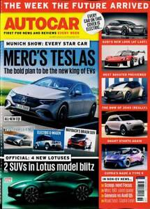 AUTOCAR MAGAZINE 8/15 SEPTEMBER 2021 (MERC'S TESLAS, 4 NEW LOTUSES, MUNICH SHOW)