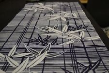 Japanese Cotton Fabric Blue with White Bamboo Design 1573