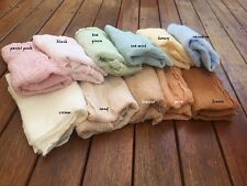 Hand dyed Gauze Cotton PASTEL COLOUR Cheesecloth Baby Wrap Newborn Photo Prop