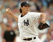 Chien-Ming Wang Signed NY Yankees 8x10 Photo - COA - Nationals - Blue Jays - MLB