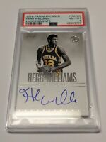 2018-19 Panini Encased Herb Williams Endorsements Autograph Indiana Pacers PSA 8