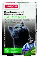 Beaphar Zecken-Flohband f. Katzen gegen Zecken und Flöhe reflektierend 35 cm `