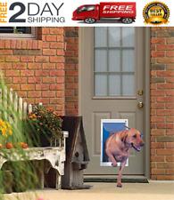 New listing Extra Large Dog Door Frame Aluminum Pet Cat Door With Telescoping Frame White
