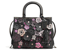 COACH 1941 Rogue 25  in Pebble Leather with Tea Rose Black Multi