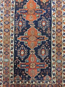 Antique Old Used Handmade Wool Rug Carpet Shabby Chic,Size:6.6 By4.2 Ft