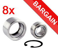 """Pack of 8x Spherical Bearing + Housing/Cup + Circlip 3/4"""" hole BARGAIN SALE"""