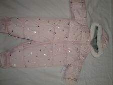 Carter's Infant Girls Hooded Pram Snowsuit With Mittens  Size 3-6 Months $70.00