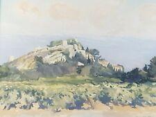 Original Watercolour of Eygalier, Provence Mary Parsons Reid Allan (1917-2002)