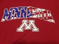 University Of Minnesota Medium USA Stars Stripes Logo T Shirt Golden Gophers