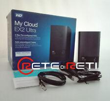 € 114+IVA WD MyCloud EX2 Ultra NAS 2-Bay 0TB 1xGbE 2xUSB 3