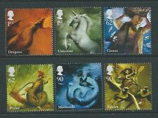 GREAT BRITAIN 2009 MYTHICAL CREATURES SET OF 6 UNMOUNTED MINT, MNH