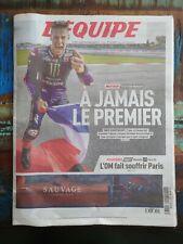 Fabio Quartararo Champion du Monde Moto GP journal l'équipe / Neuf / OM vs PSG