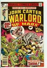 JOHN CARTER, WARLORD OF MARS #1 8.0