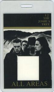 U2 JOSHUA TREE 1987 LAMINATED BACKSTAGE PASS All Access